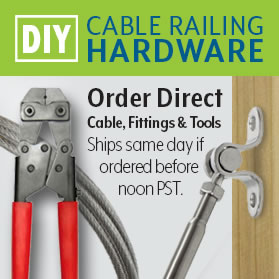 diy cable railing hardware
