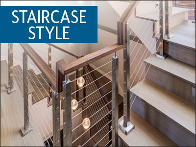 Stylish staircase image.