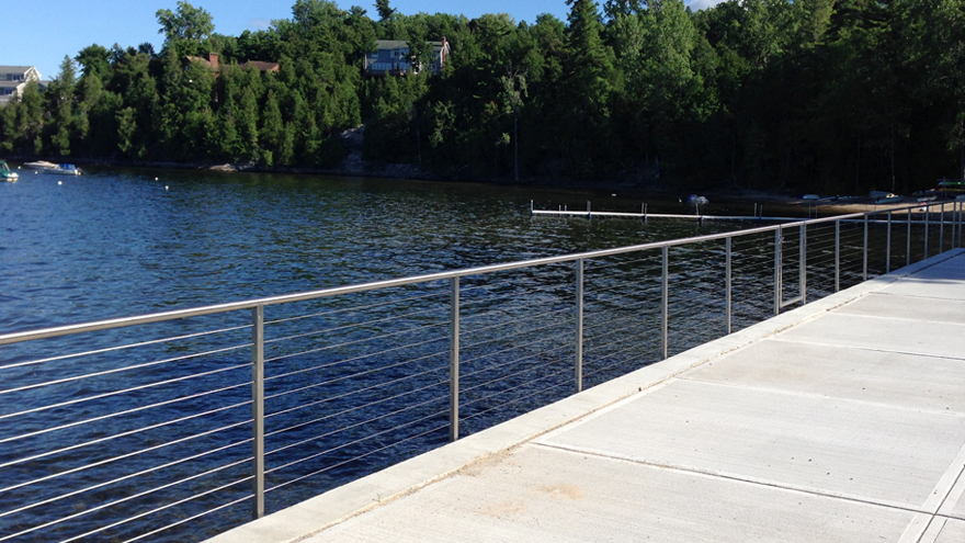 stainless steel waterfront railing system