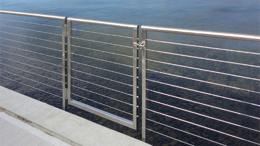 cable railing with gate