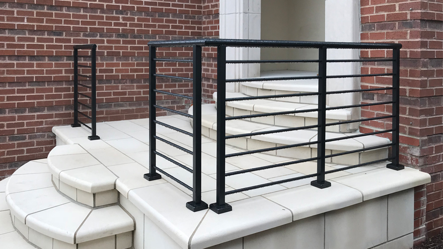 AGS offers powder coating in 5 standard colors. Pictured
